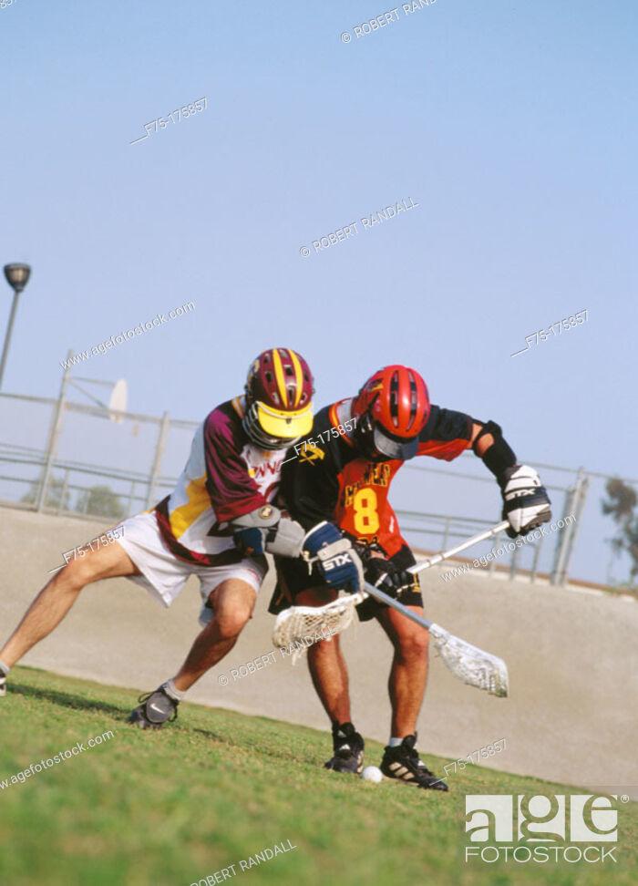Stock Photo: Lacrosse match.