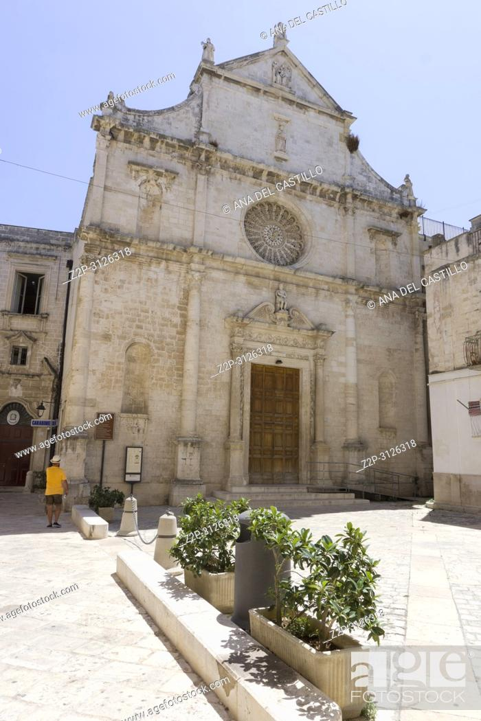 Stock Photo: Monopoli in Puglia Italy on July 12, 2018. San Domenico church.