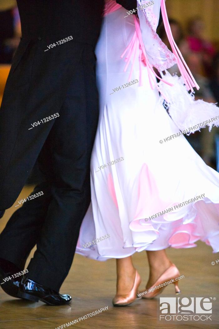 Stock Photo: A couple at ballroom dancing, Germany, Europe.