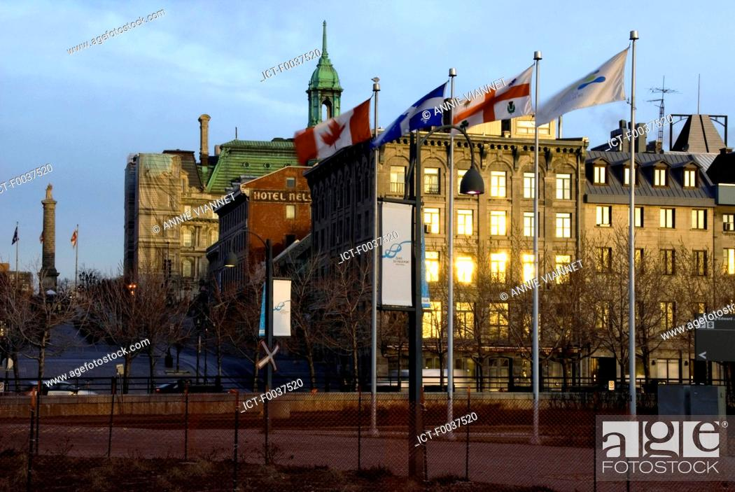 Stock Photo: Canada, Quebec, Montreal, town hall.