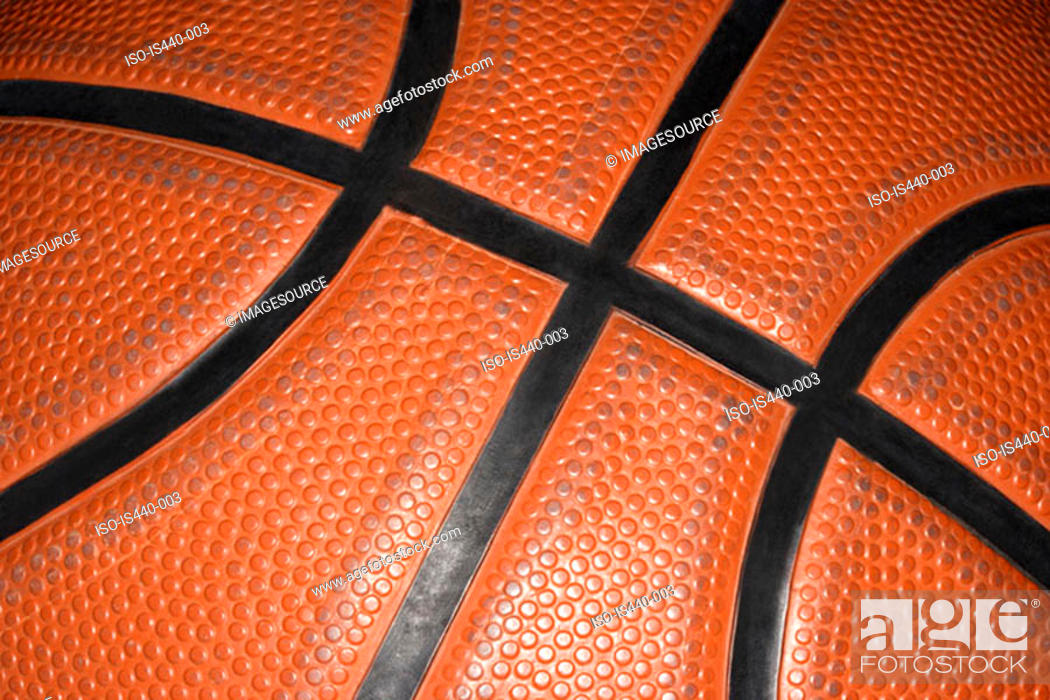 Stock Photo: Close up of a basketball.
