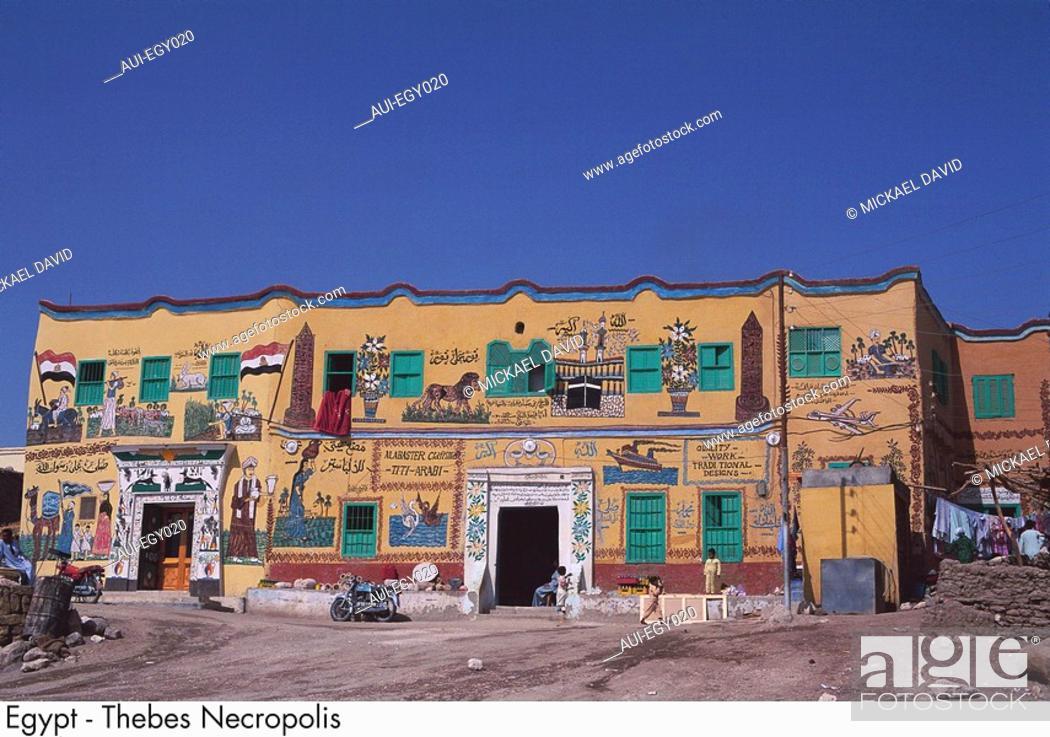 Stock Photo: Egypt - Thebes Necropolis.