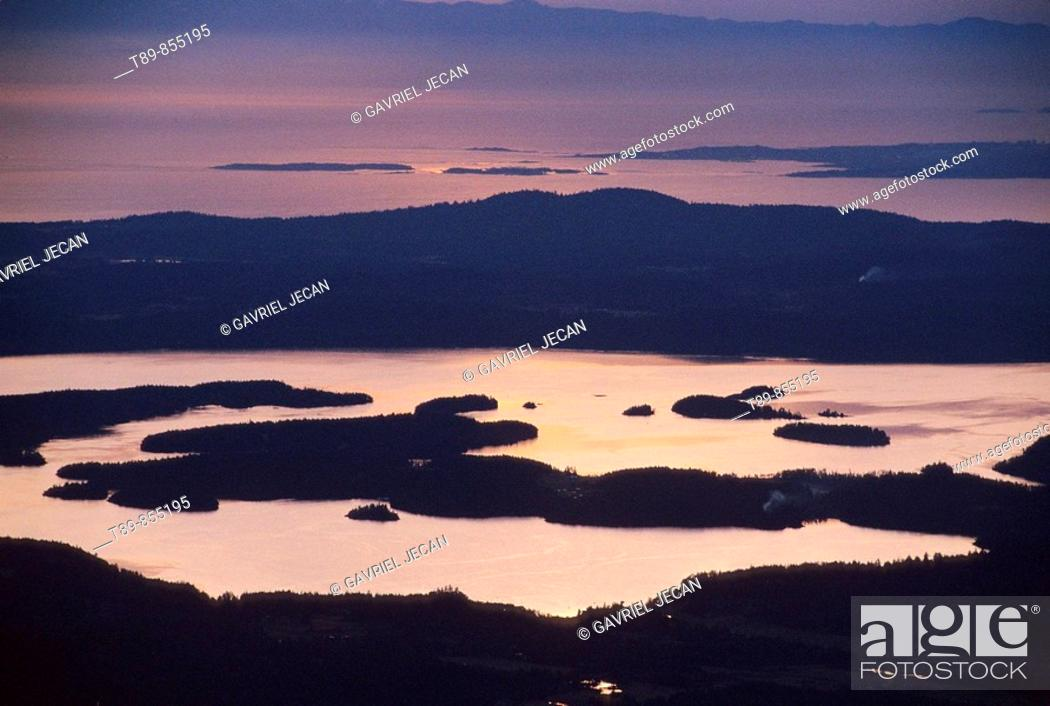 Stock Photo: Puget Sound Aerial view.