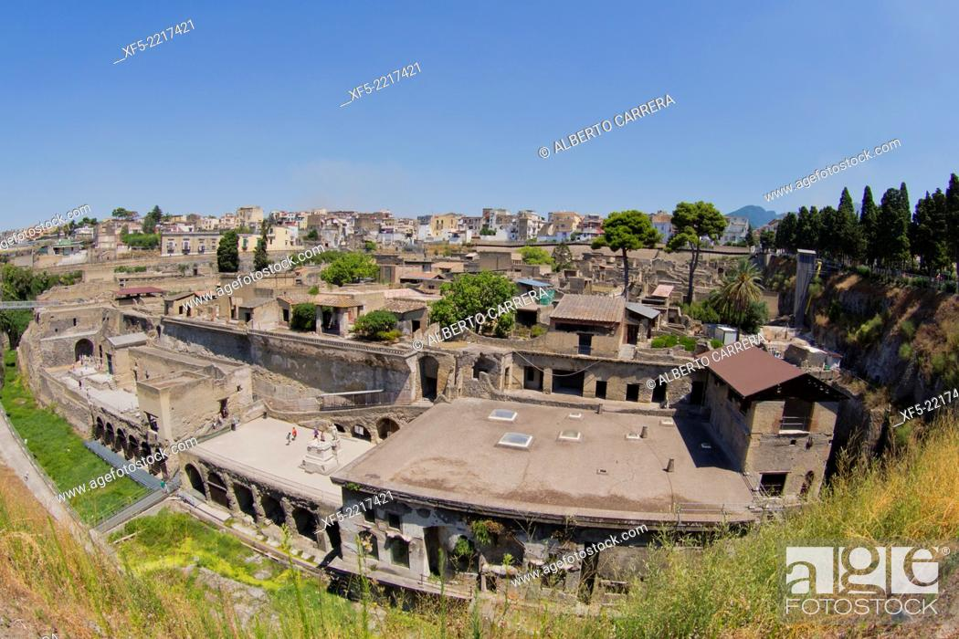 Imagen: Ruins of Herculaneum, Ancient Roman Ruins, UNESCO Worl Heritage Site, Ercolano, Campania, Italy, Europe.