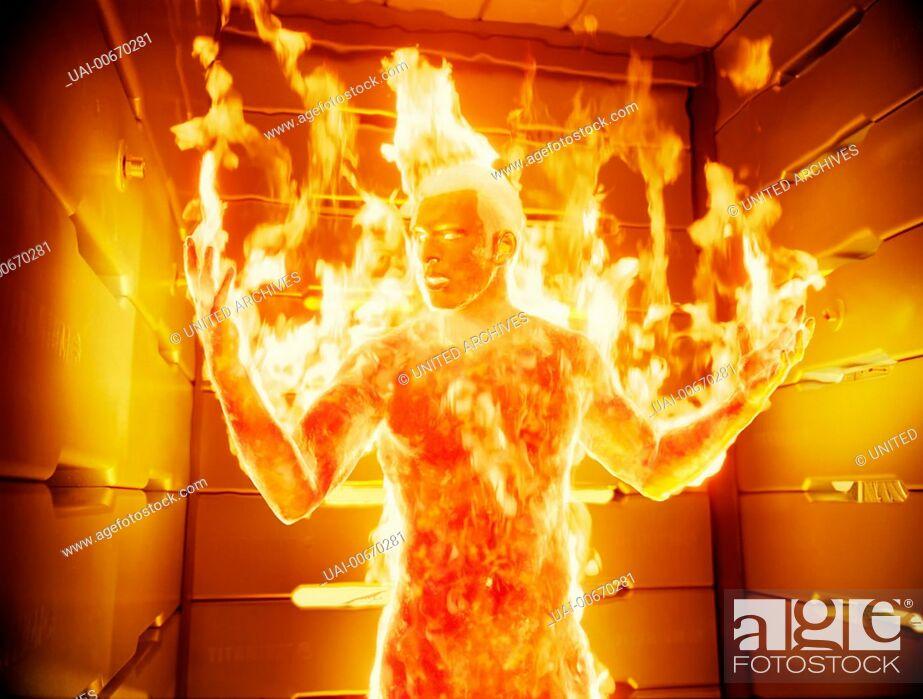 Imagen: FANTASTIC FOUR D/USA 2005 Tim Story Johnny Storm (CHRIS EVANS) in seiner Rolle als Human Torch Regie: Tim Story / FANTASTIC FOUR D/USA 2005.