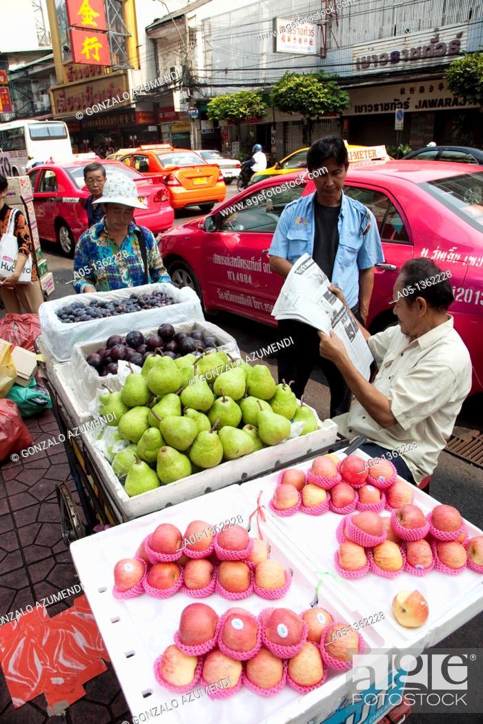 Stock Photo: Chinatown  Bangkok, Thailand, Southeast Asia, Asia.