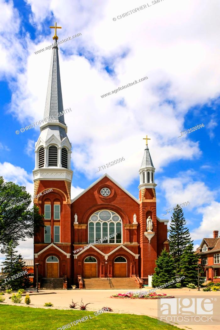 Stock Photo: St. Mary's Cathedral building in Fargo, N. Dakota.