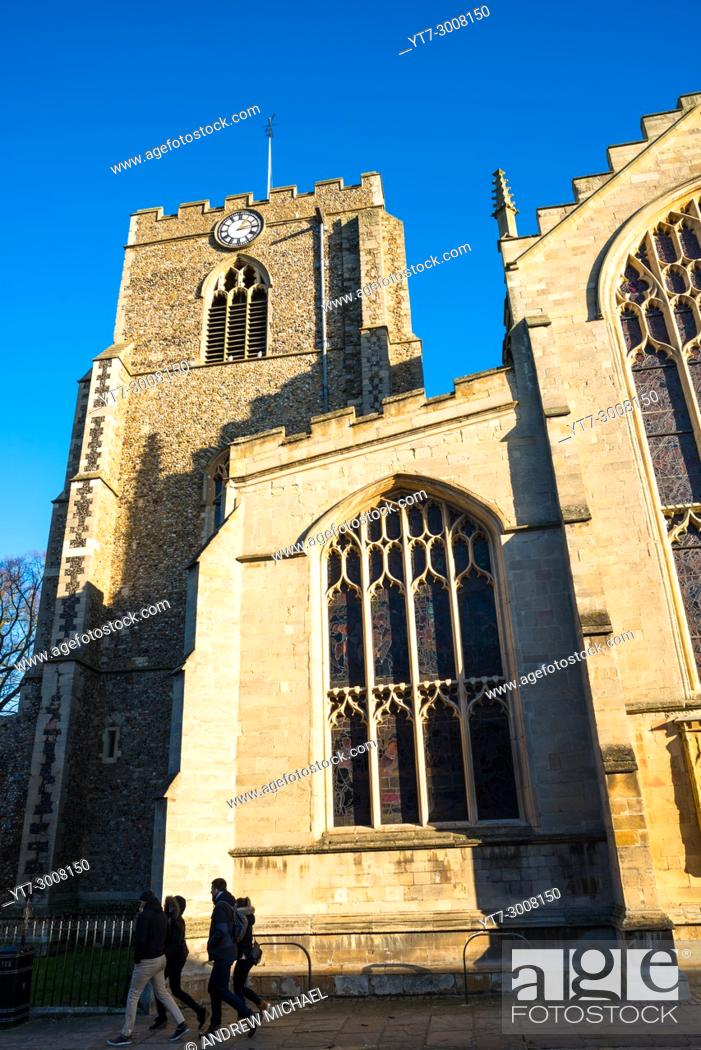 Stock Photo: St Mary's Church in Crown Street, Bury St. Edmunds, Suffolk, England.