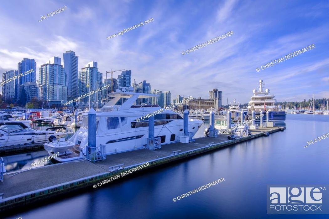 Stock Photo: Coal Harbour in Vancouver, British Columbia during a wonderful sunny afternoon in November.