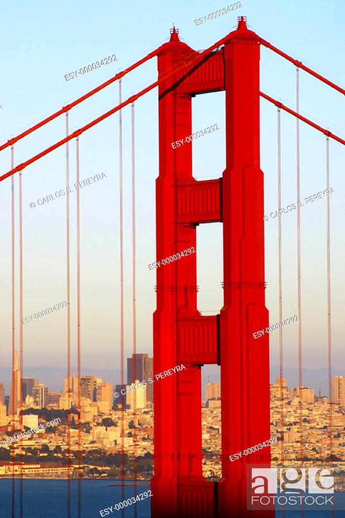 Stock Photo: Golden Gate bridge. San Francisco. California, USA.