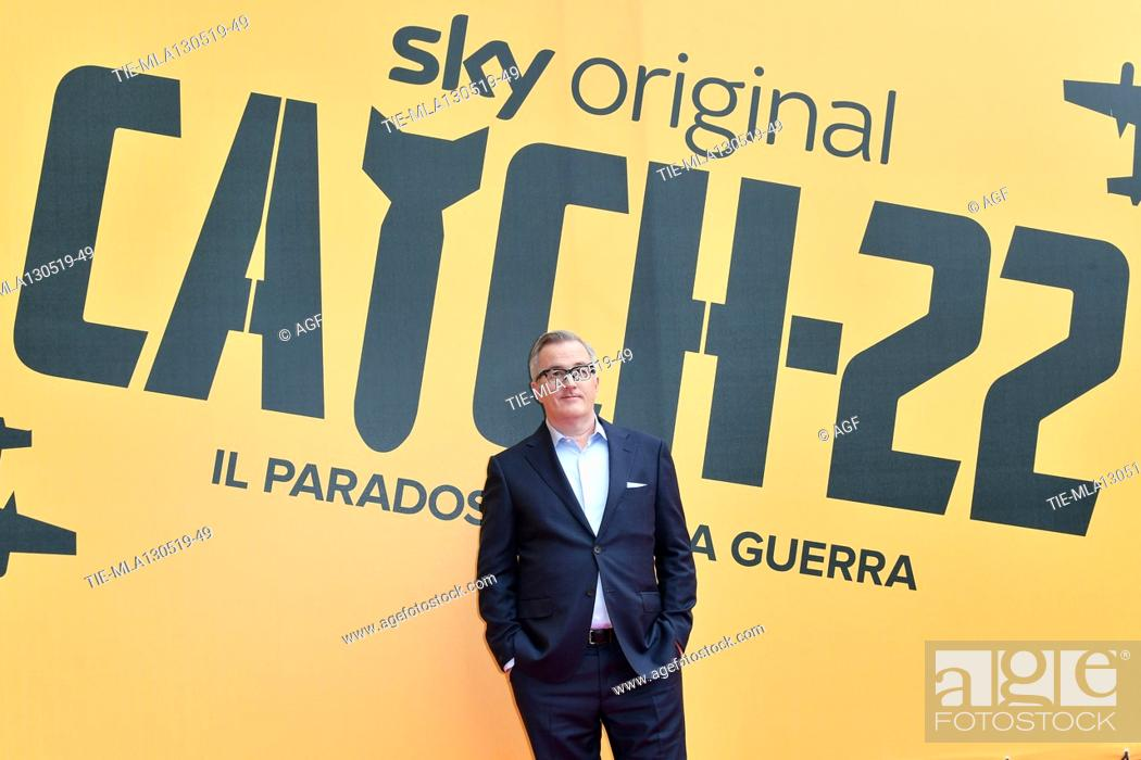 Stock Photo: Luke Davies during 'Catch-22' TV show photocall, Rome, Italy - 13 May 2019.