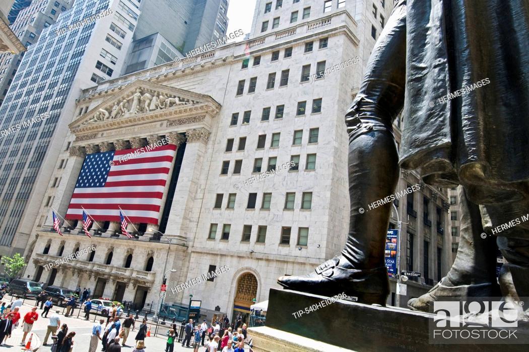 Stock Photo: New York, NY New York Stock Exchange Building.