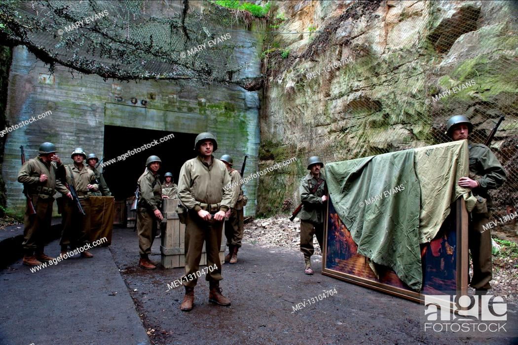 Stock Photo: Scene With Soldiers Film: The Monuments Men (USA/DE 2014) Director: George Clooney 04 February 2014.