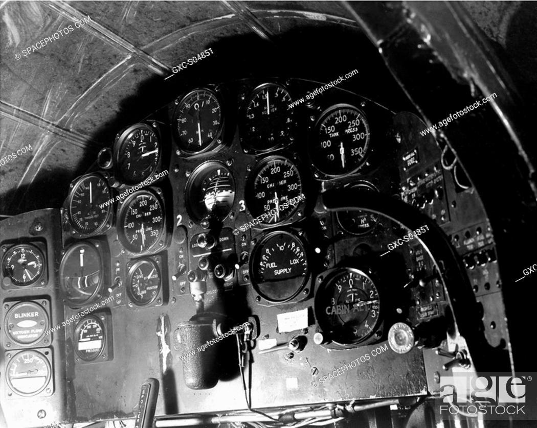 A Bell Aircraft Corporation X-1 series aircraft cockpit