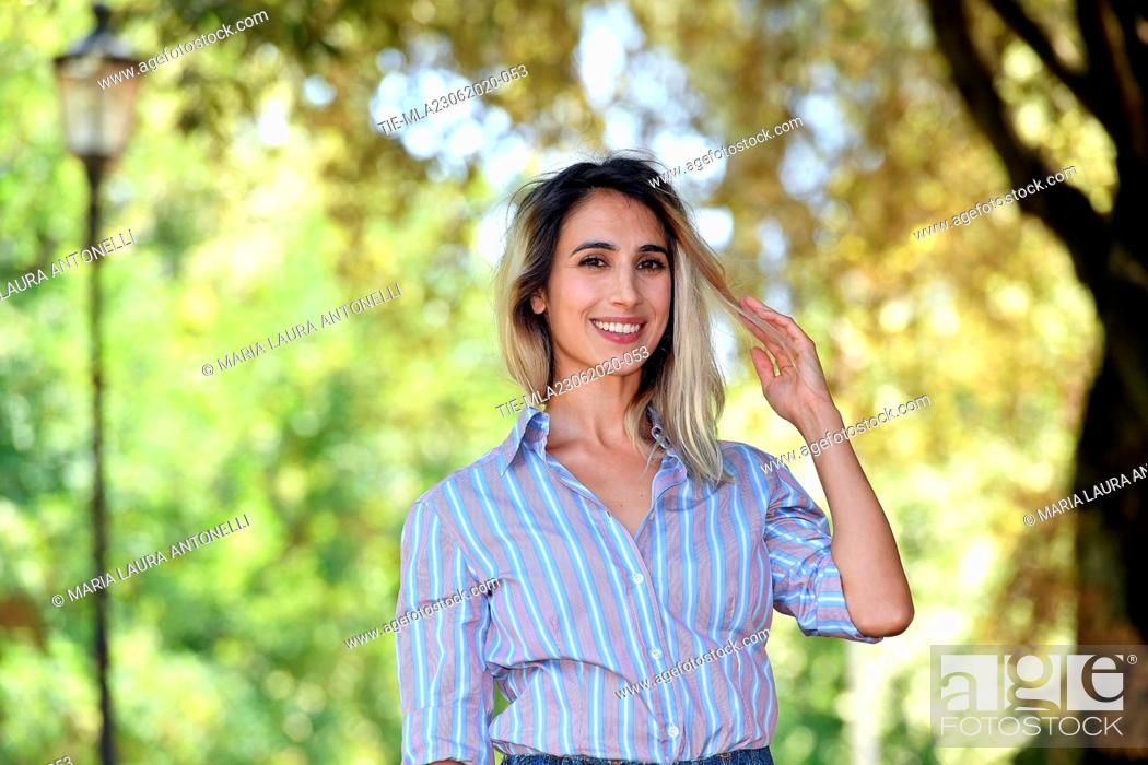 Stock Photo: Actress Silvia D'Amico during the photocall of film ' Il Regno' (The Kingdom) , Rome, ITALY-23-06-2020.