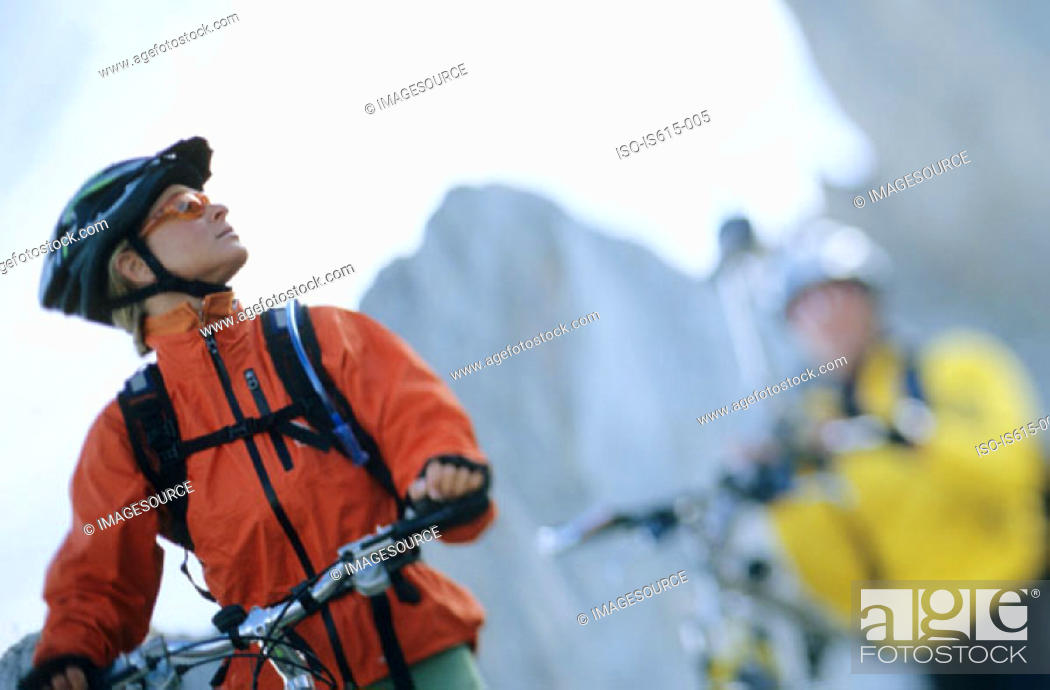 Stock Photo: Cycling in the mountains.