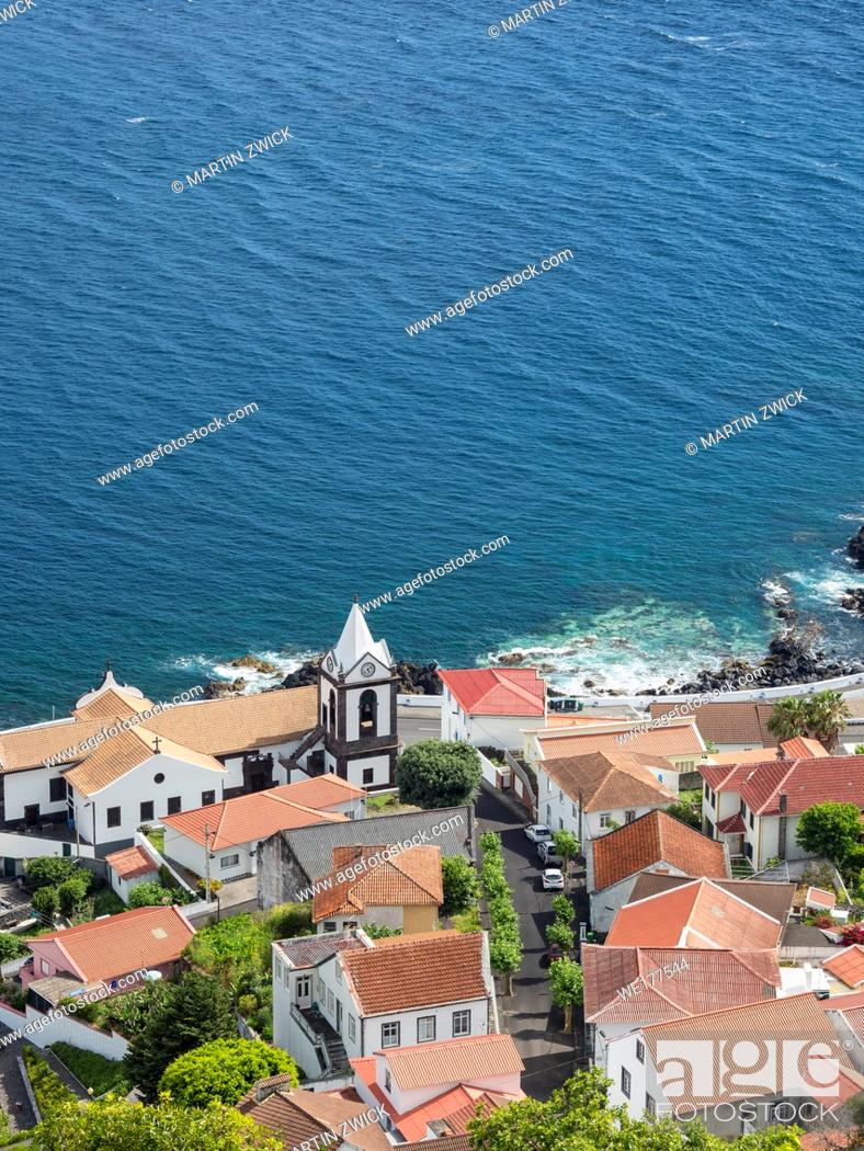 Stock Photo: Village Calheta. Sao Jorge Island, an island in the Azores (Ilhas dos Acores) in the Atlantic ocean. The Azores are an autonomous region of Portugal.