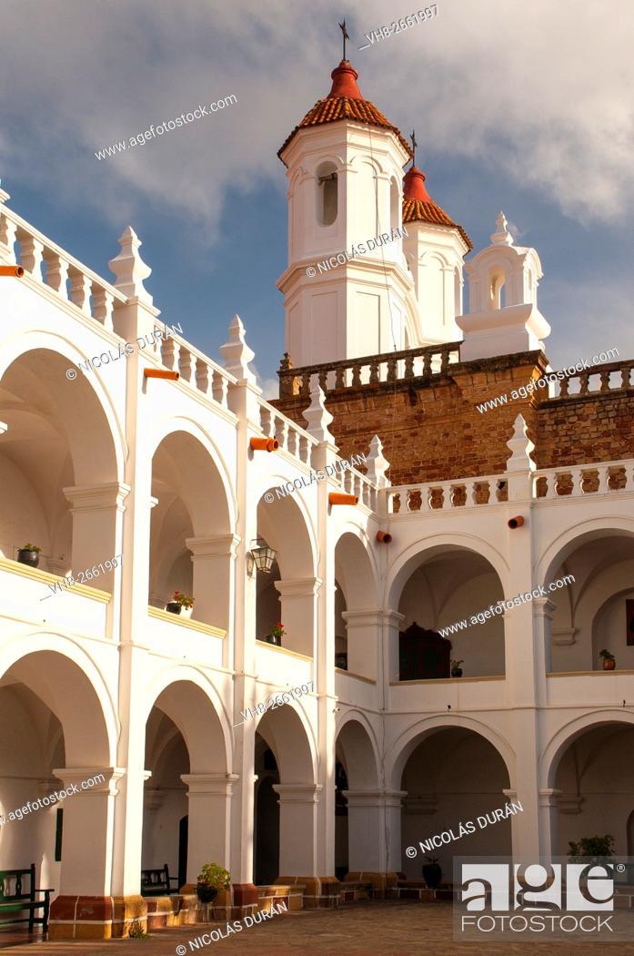 Stock Photo: San Francisco Javier Temple. Universidad San Francisco Xavier de Chuquisaca. Sucre. Bolivia.