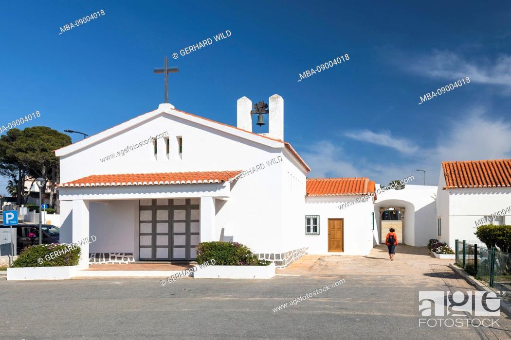 Stock Photo: Ermida de Nossa Church Senhora da Encarnacao, Carvoeiro, Algarve, Faro, Portugal.