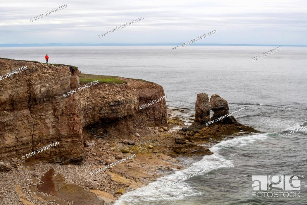 Stock Photo: Jerry's nose coastal rock formation.