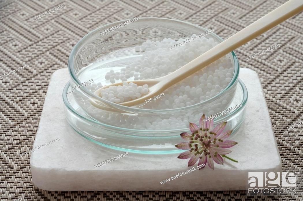 Stock Photo: Crystals - homeopathic remedy.