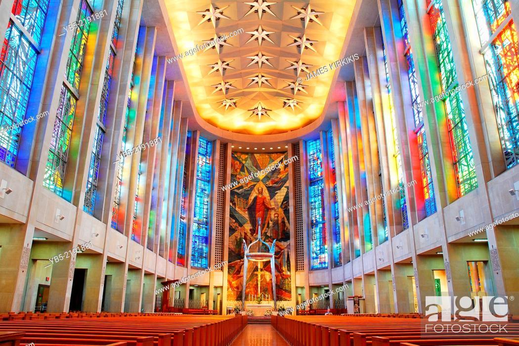 Stock Photo: Interior Saint Josephs Cathdral.