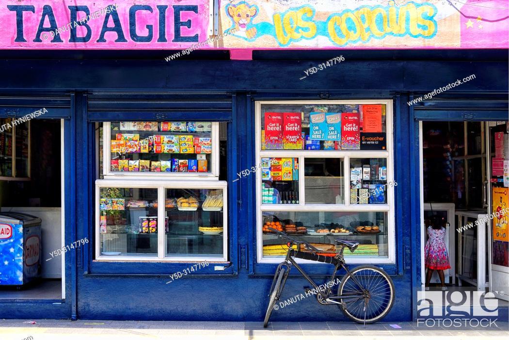 Imagen: Tabac shop, street scene, Mahébourg, Grand Port district, southeastern coast of Mauritius, Mauritius, Mascarenhas, Mascarene Islands, Mascarene.