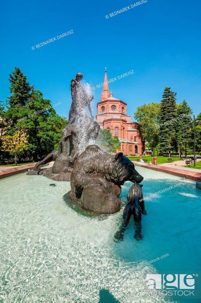 Imagen: Deluge Fountain. Bydgoszcz, Kuyavian-Pomeranian Voivodeship, Poland.