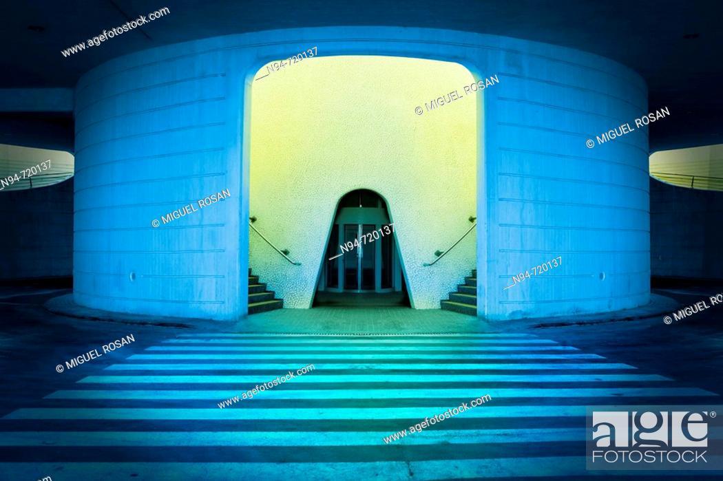 Stock Photo: Lift, City of Arts and Sciences, Valencia. Comunidad Valenciana, Spain.