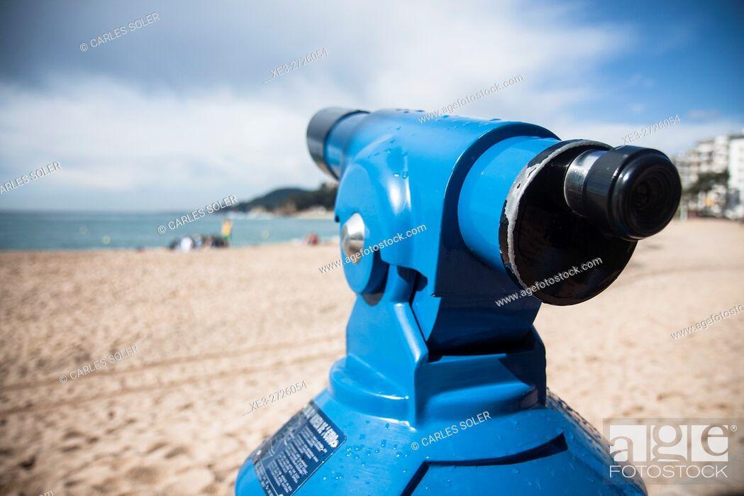 Imagen: Telescope, beach, LLoret de Mar, Girona Province, Spain.