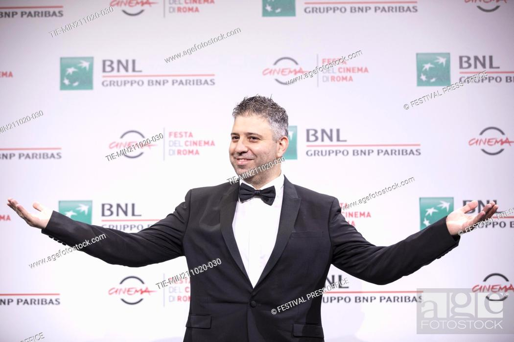 Stock Photo: Evgeny Afineevsky during the photocall of movie' Francesco' at the 15th Rome Film Festival, Rome, ITALY-21-10.-2020.