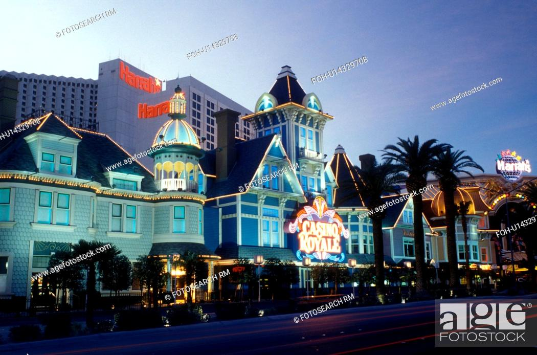 Stock Photo: Las Vegas, Nevada, casinos, hotel, NV, Nightlife along The Strip at night in Las Vegas, the Entertainment Capital of the World.