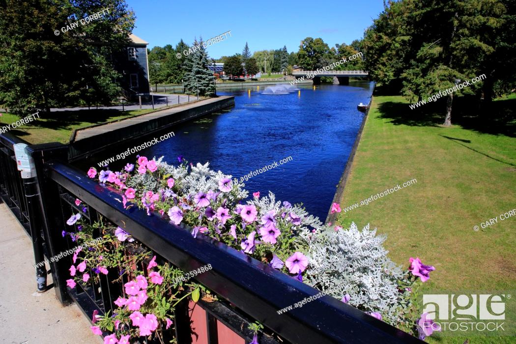 Stock Photo: Rideau canal in Perth, Ontario, Canada.