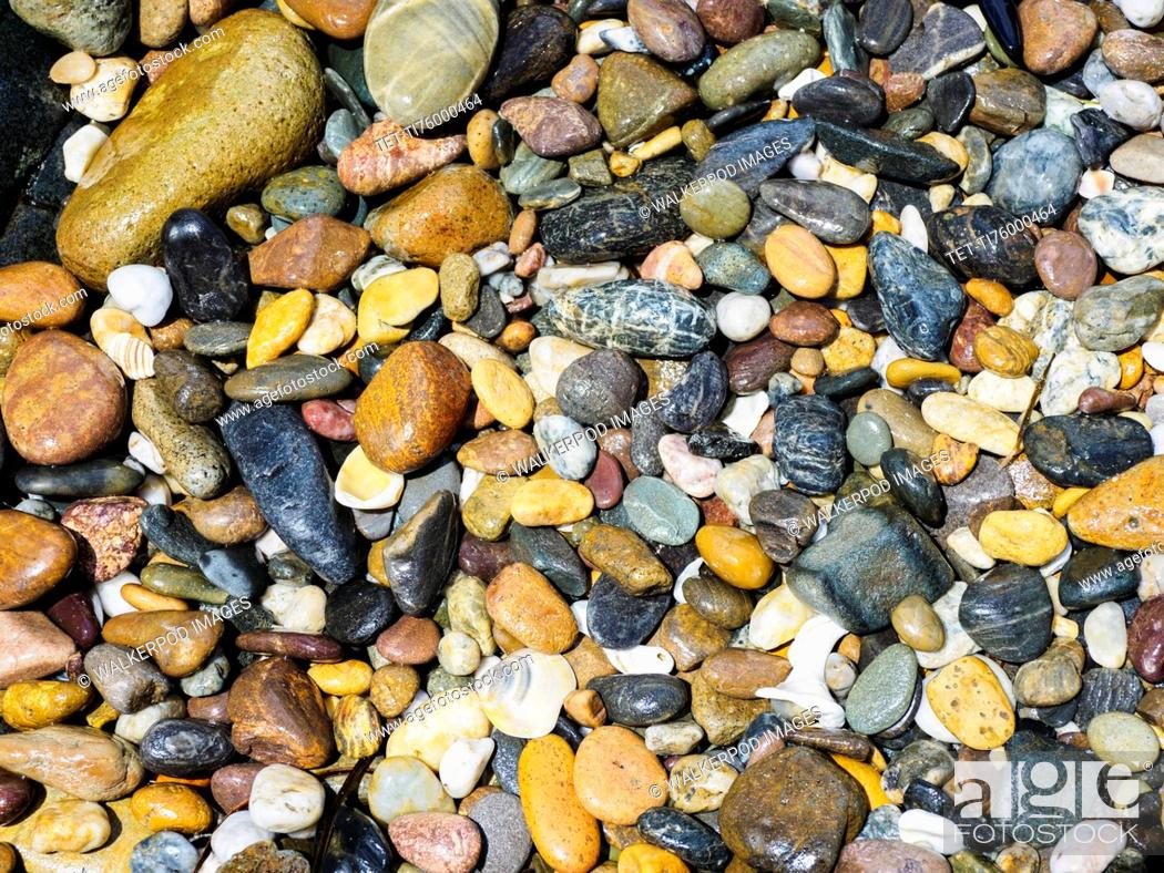 Stock Photo: Full frame of colorful pebbles.