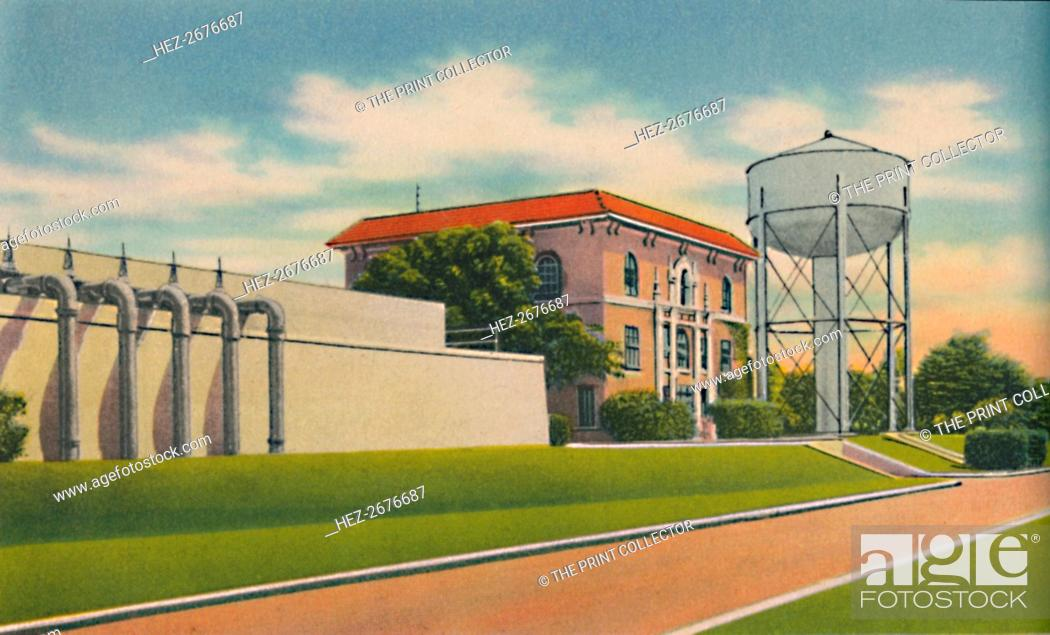 Stock Photo: 'Municipal Aqueduct, Barranquilla', c1940s. Artist: Unknown.