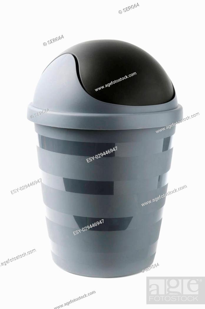 Stock Photo: office trashcan isolated on white background.