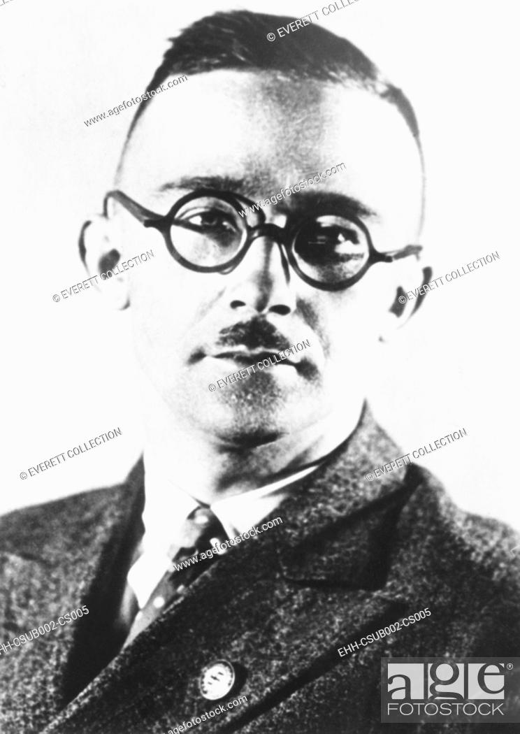 Imagen: Heinrich Himmler, head of the Nazi's Black Shirt troopers or Schutzstaffel (SS) from 1929-1945. The SS began as a paramilitary group to guard Nazi meetings.