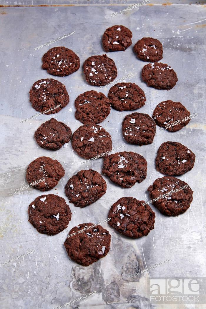 Stock Photo: Chocolate cookies.