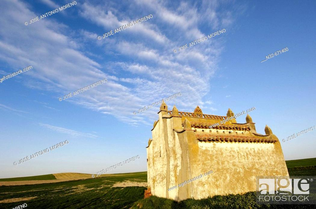 Stock Photo: Old dovecote in Villafafila Lagoon. Zamora province, Castilla-León, Spain.