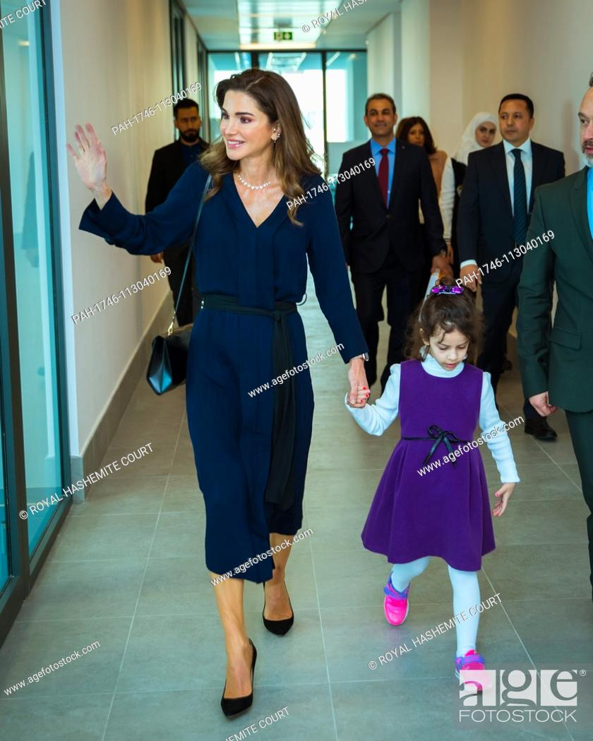 Queen Rania During A Visit To The Queen Rania Teacher Academy In Amman On December 2 2018 Stock Photo Picture And Rights Managed Image Pic Pah 1746 113040169 Agefotostock