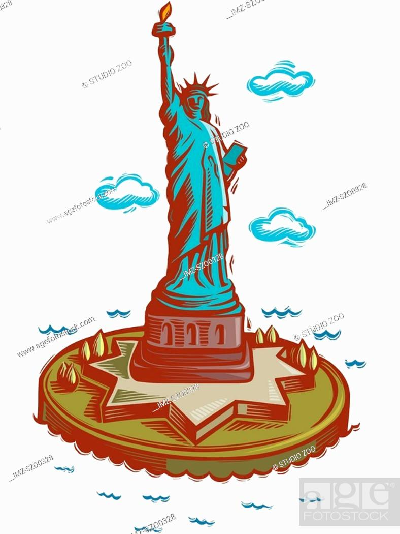 Stock Photo: Statue of Liberty.