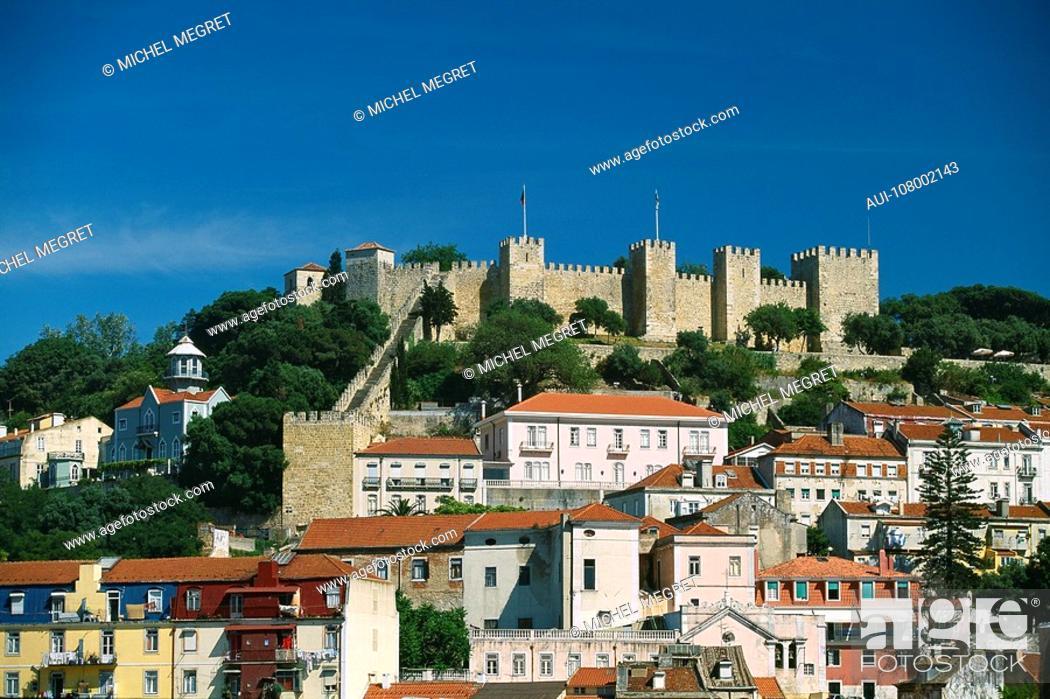 Stock Photo: Portugal - Lisbon - Castelo SÒo Jorge.