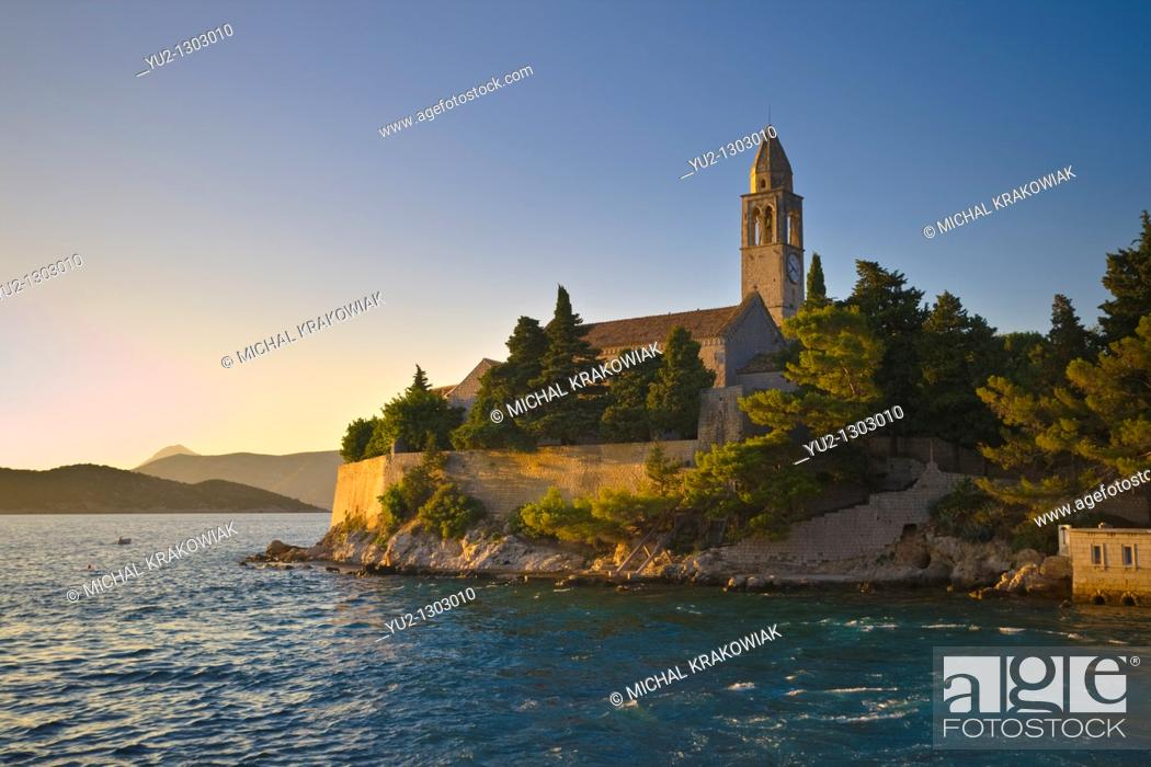 Stock Photo: Franciscan Monastery on Lopud island near Dubrovnik Croatia.