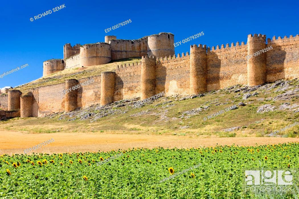Stock Photo: Berlanga de Duero Castle, Soria Province, Castile and Leon, Spain.