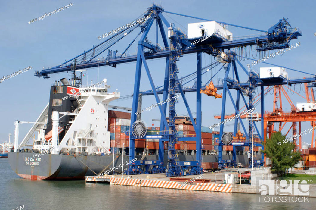 Stock Photo: Port docks of Veracruz, the major port city on the Gulf of Mexico. Mexico.