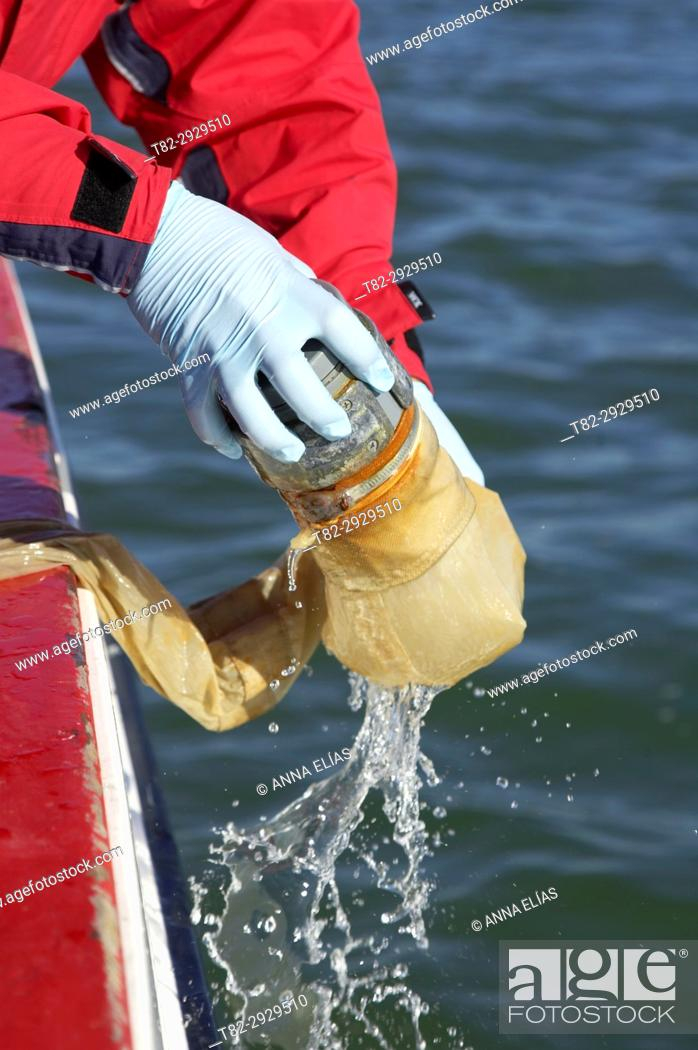 Stock Photo: Marine research and quality control. Huelva, Andalusia, Spain.