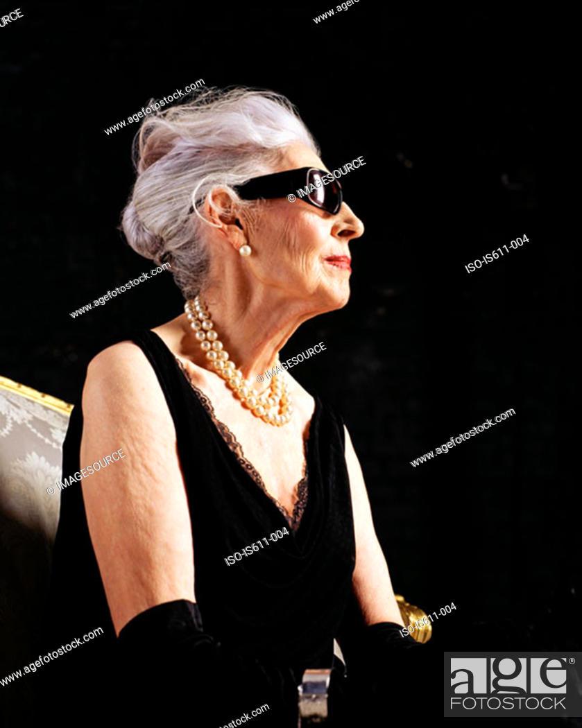 Stock Photo: Profile of glamourous senior woman.