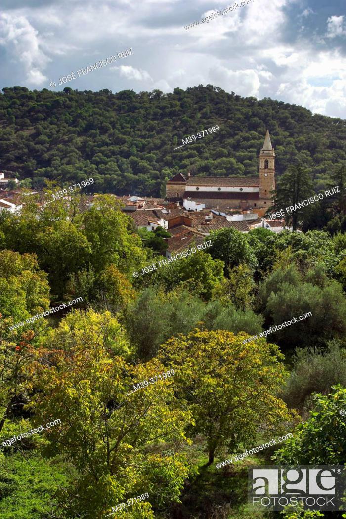Stock Photo: Alájar, town in Sierra de Aracena y Picos de Aroche Natural Park. Huelva province, Spain.