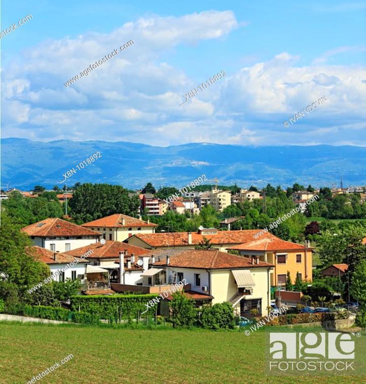 Stock Photo: View from villa Capra 'La Rotonda', near Vicenza, Veneto, Italy.