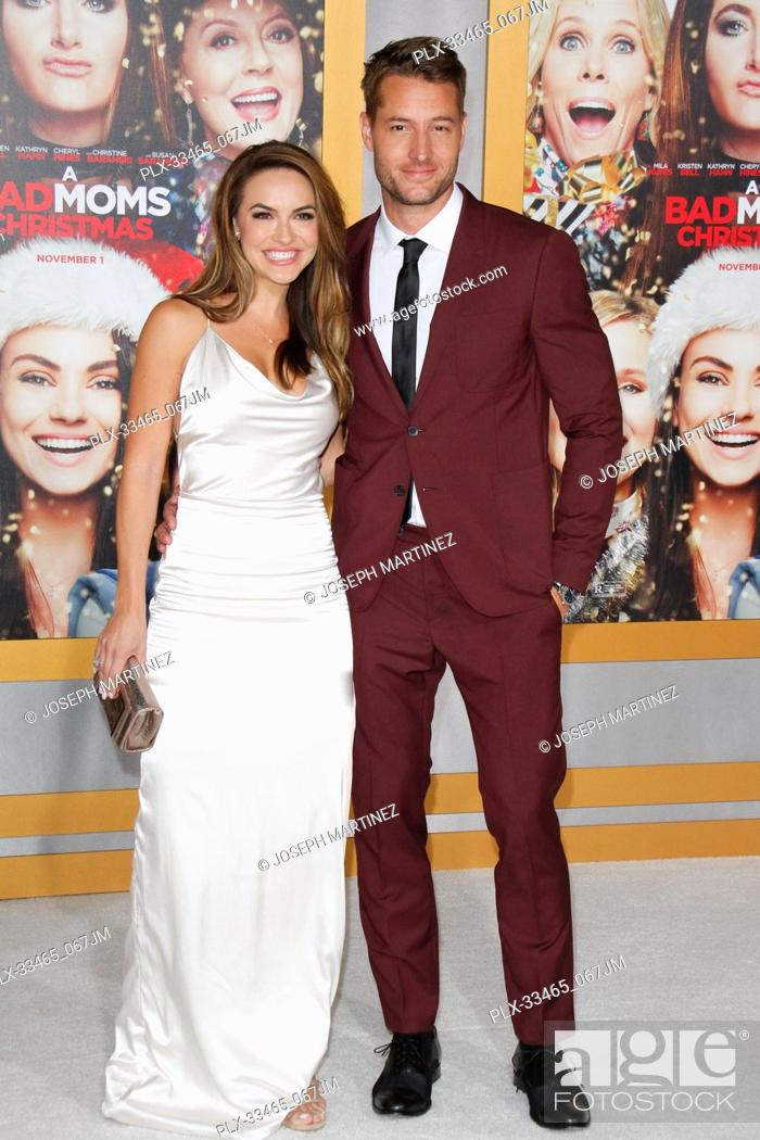 A Bad Moms Christmas Justin Hartley.Chrishell Stause Justin Hartley At The Premiere Of Stx